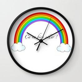 Arc-en-ciel ça va bien aller  Wall Clock