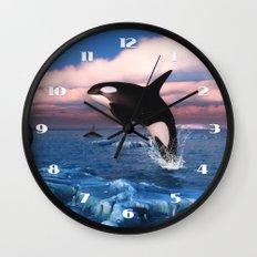 Killer whales in the Arctic Ocean Wall Clock