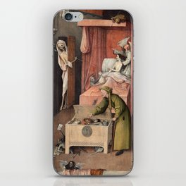 Hieronymus Bosch - Death and the Usurer iPhone Skin
