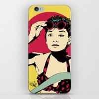audrey iPhone & iPod Skins featuring Audrey by Vee Ladwa