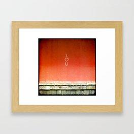 I <3 U Framed Art Print
