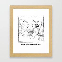 Welcome Mat Framed Art Print