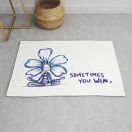 """Sometimes You Win"" Flowerkid Rug"