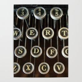 'Qwerty' Typewriter Keys Photo Poster