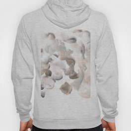 180630 Grey Black Brown Abstract Watercolour 8| Watercolor Brush Strokes Hoody