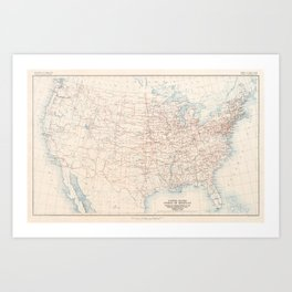 1926 U.S. Highway System Map Art Print