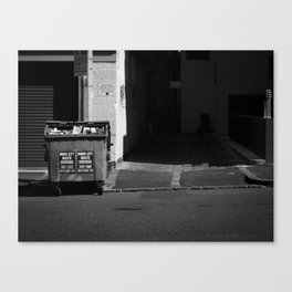 Waste not. (Berkeley Street, 2011) Canvas Print