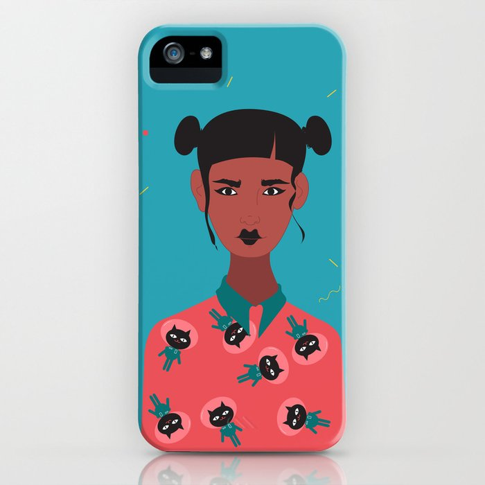 Hairbuns & PrintShirts iPhone Case