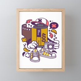 Roll Film for animated characters comics and pop culture lovers Framed Mini Art Print