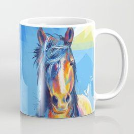 Horse Beauty - colorful animal portrait Coffee Mug