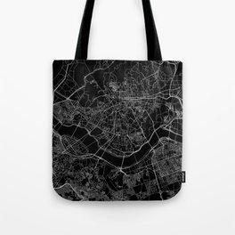 Seoul Black Map Tote Bag