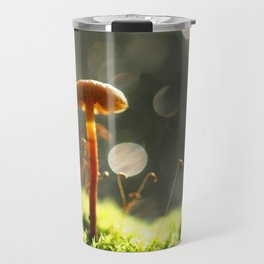 Mushroom In The Morning Light... Travel Mug