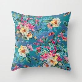 Floral Ocean III Throw Pillow