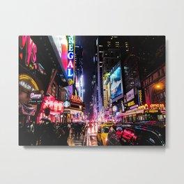 New York City Night Metal Print