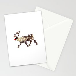 Dotted Rudolph Stationery Cards