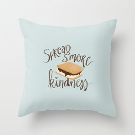 Spread S'more kindness Throw Pillow
