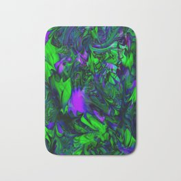 Green purple stained glass Bath Mat