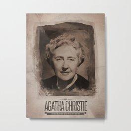 Agatha Christie Metal Print