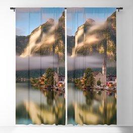Beautiful Waterfront Hallstatt Salzkammergut Austria Blackout Curtain