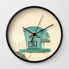 Lifeguard Tower Photo. No. 21 Wall Clock