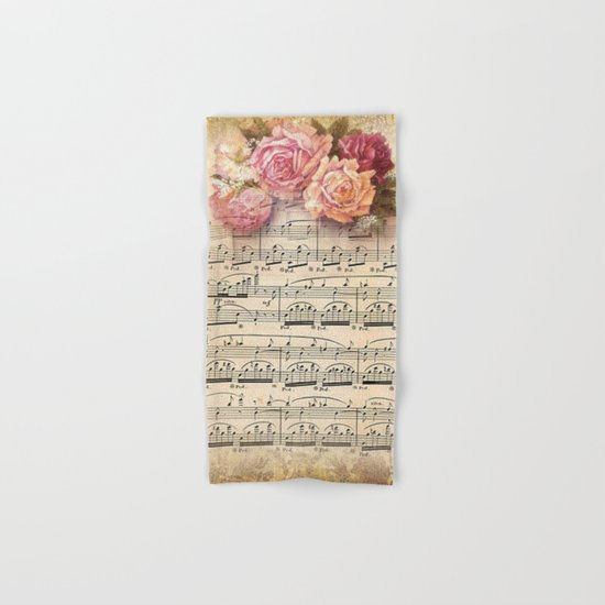 Vintage Music #2 Hand & Bath Towel