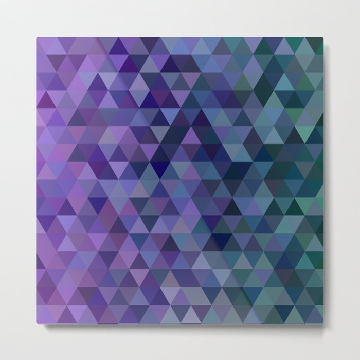 Triangle tiles Metal Print