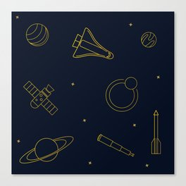 Pattern: Gold Space Canvas Print