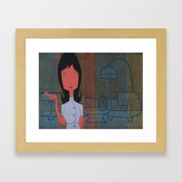 Impatiently waiting for your love Framed Art Print