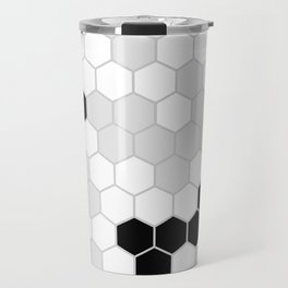 Honeycomb Pattern | Black and White Design | Minimalism Travel Mug