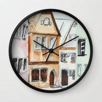 german Wall Clocks featuring German Street by picturefire