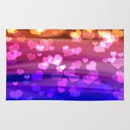 Lovely Hearts, Bokeh Rug