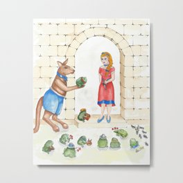 To meet your handsome prince..you need to kiss a lot of toads Metal Print