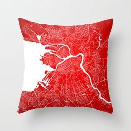 Sankt Peterburg map Throw Pillow