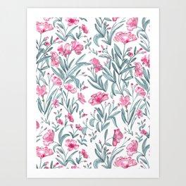 Nerium Oleander Pattern Art Print