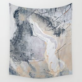 As Restless as the Sea: a minimal abstract painting by Alyssa Hamilton Art Wall Tapestry