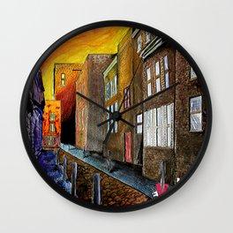 A Cobbled Street Wall Clock