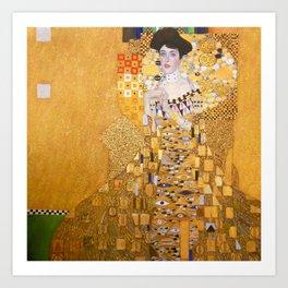 Gustav Klimt - Portrait of Adelle Bloch Bauer Art Print
