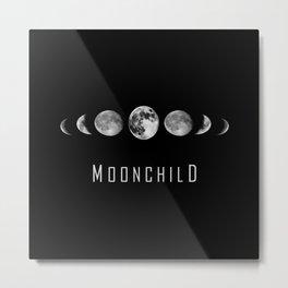Moonchild - Moon Phases Metal Print