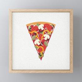 PIZZA POWER - VEGO VERSION Framed Mini Art Print
