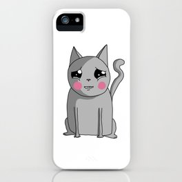 Cat with the Sad Eyes iPhone Case