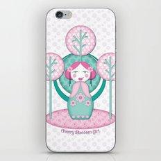Cherry Blossom Girl iPhone & iPod Skin