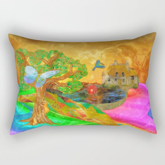 Let color bring you smiles as you walk lifes many miles Rectangular Pillow