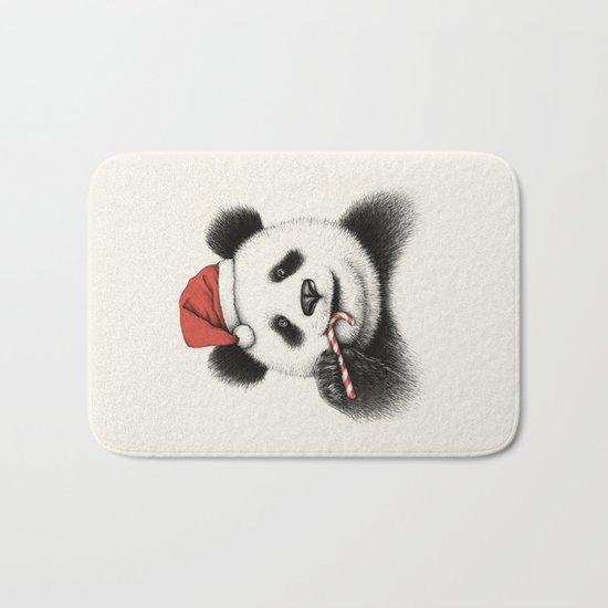 Festive Panda Bath Mat