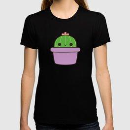 Cute cactus in purple pot T-shirt