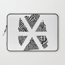 Asterisk, Black/White Abstract (ink drawing) Laptop Sleeve