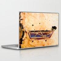 bathroom Laptop & iPad Skins featuring Monsieur Bone in the bathroom by Joe Ganech