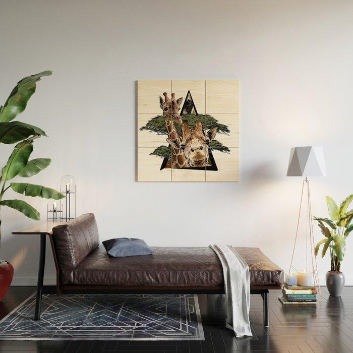 Giraffe Jungle ArtWork Wood Wall Art