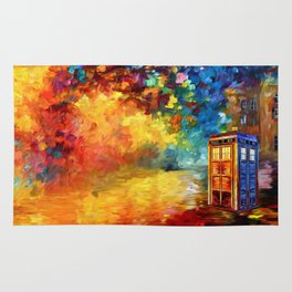Police Phone Box at Rainbow city Art painting iPhone 4 4s 5 5c 6 7, pillow case, mugs and tshirt Rug