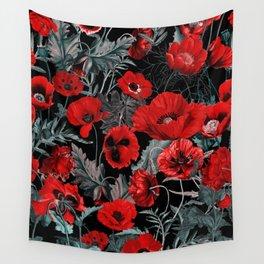 Poppy Garden Wall Tapestry
