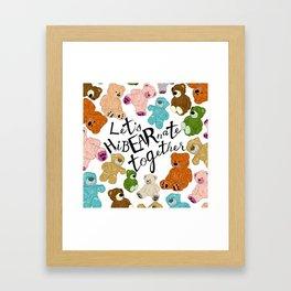 Hi BEAR nate Framed Art Print